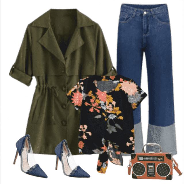 Gorgeous styling and fun details makes this outfit perfect for 'conquering' the city.