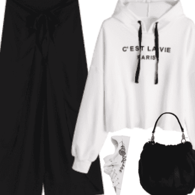 Black and White are the best friend of outfit colors!