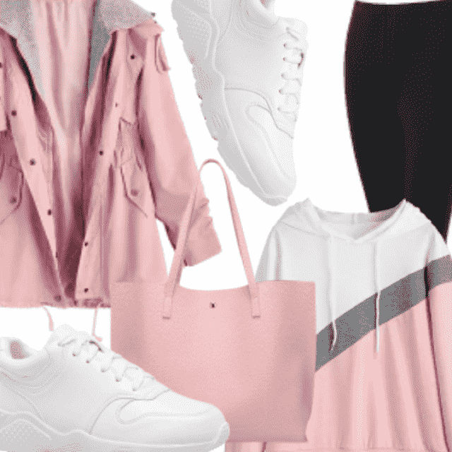pinky lolita feminine outfit , active wear , Go sporty