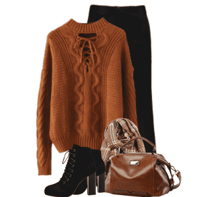 Trendy Winterlook with this sweater