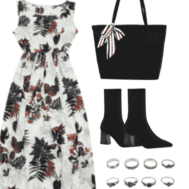 Fashion style for floral dresses