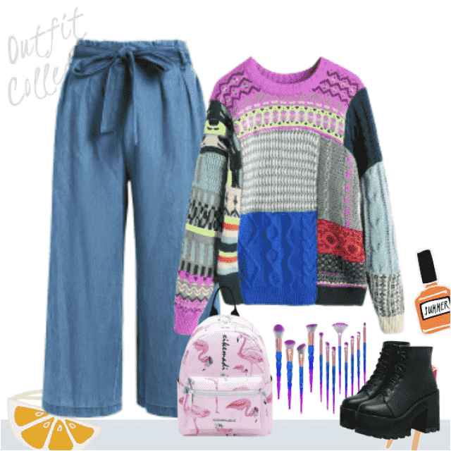 Outfit for cold winter days and your free time. Comfortable and cute!
