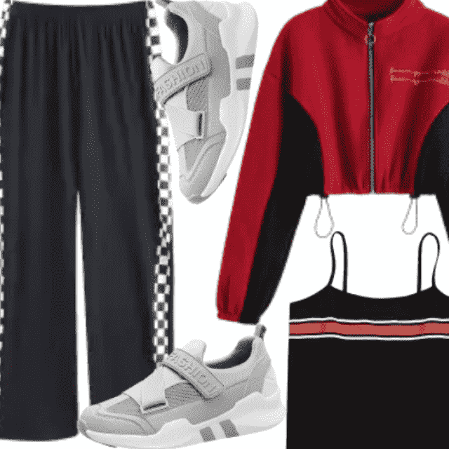 Sporty And Cool Outfit , So Active And Compfy Outfit .