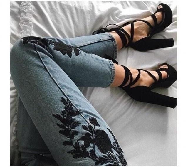 Embroided denim to die for!