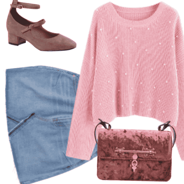 back to school with cute and fancy outfit