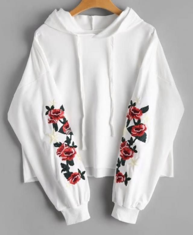 Floral hoodie. Its the cutest one I've seen so far.