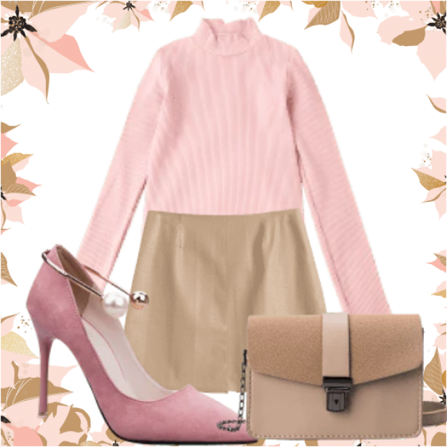 Chic And Elegant Pink And Nude Look Perfect Combination