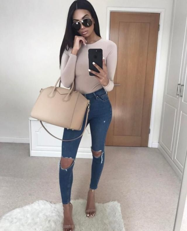 Sophisticated in ripped jeans!