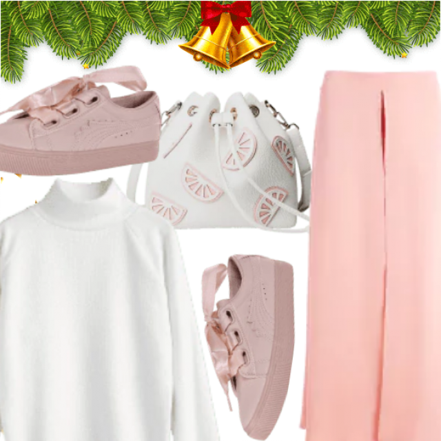 Soft Feminine Look , Pink Shades With White