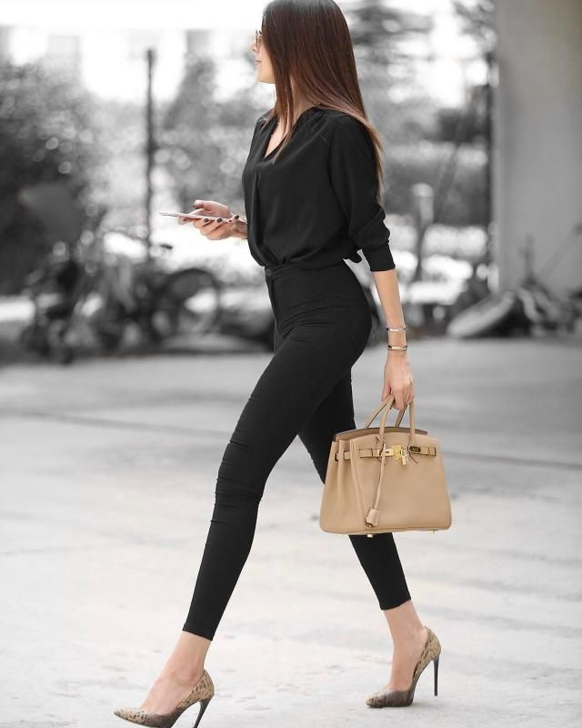 I love this black chic outfit it's so classy