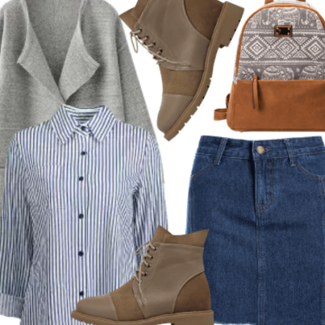 School Look , Casual Easy To Wear Outfit