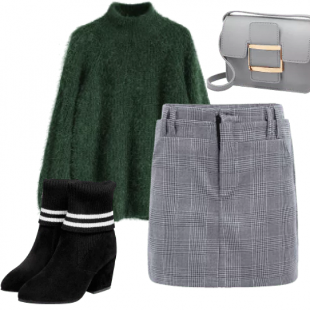 So stylish skirt have adorable material. These sweater have fabric green color and you must have for these wi…