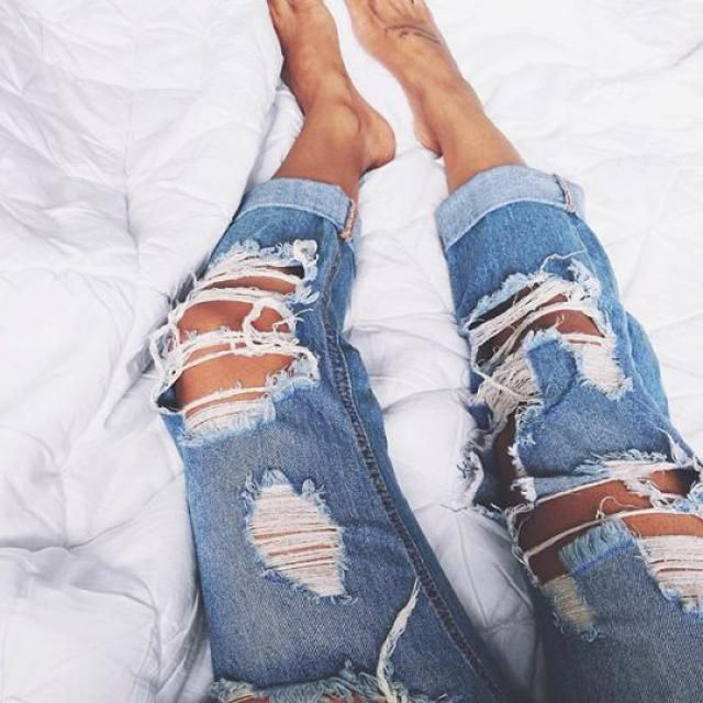 Fav to wear is ripped jeans, yay or nay?