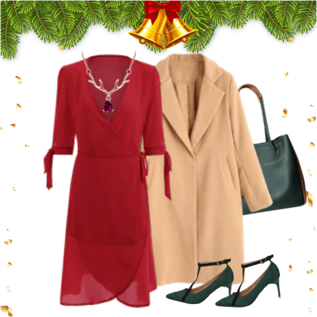 Beautiful elegant women's look it's great choice for incoming Christmas holidays!