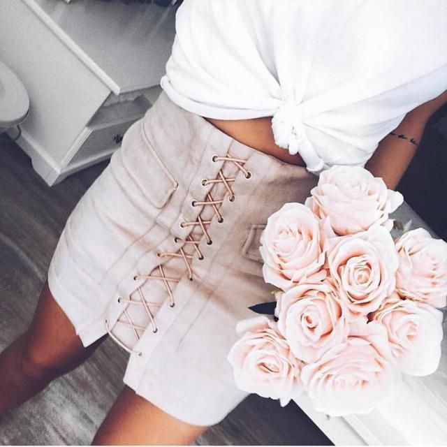 Keep it sexy with this lace up skirt
