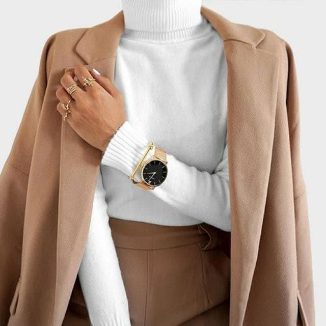 Coat, sweater and watches in zaful colection