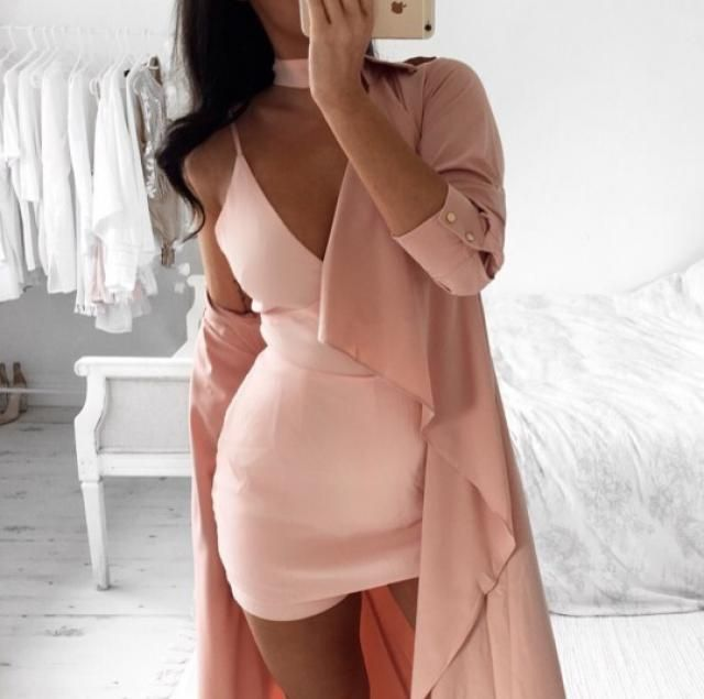 A coat is perfect for a cold night and more perfect even when you wear a dress! try with this pink one!♥