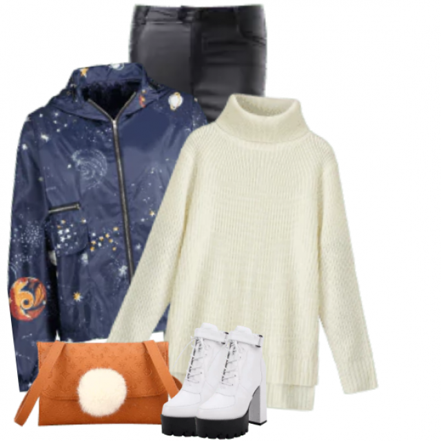 So beautiful knitted white sweater - comfortable and cozy