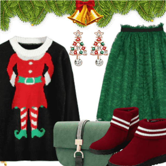 Cute And Funky Christmas Outfit