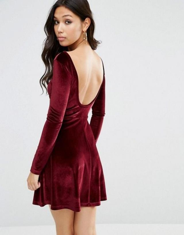 171ce979d7 Backless dress to impress  velvetred  minidress  redwine  zaful  backless   skaterskirt