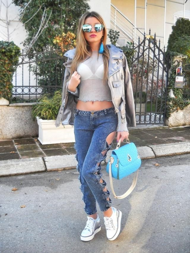 Sequin sneakers? 