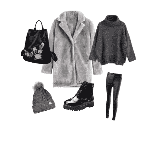 This outfit is simple, but at the same time - it's stylish. It's warm and perfect combination for winter. It totally sc…