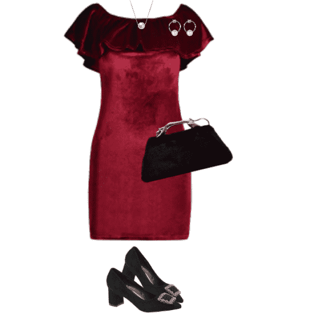 Fabulous red Christmas dress - perfect with the black pumps