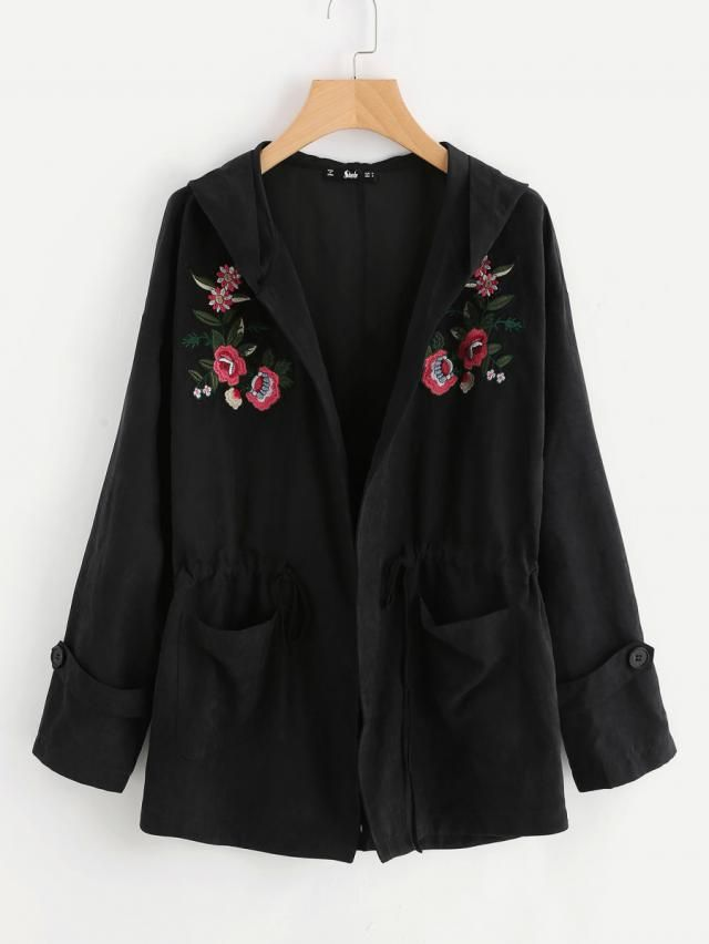 Nice black jacket with floral print