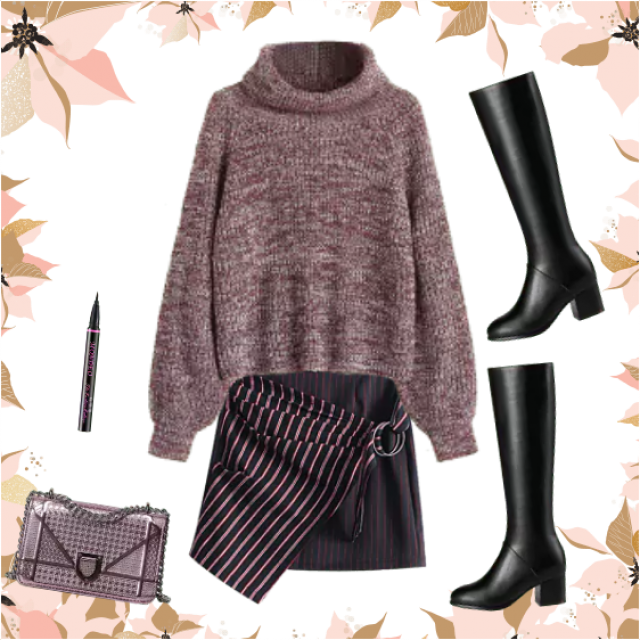 Gorgeous winter look, for modern and stylish girls and young woman. Try it, you'll see :)