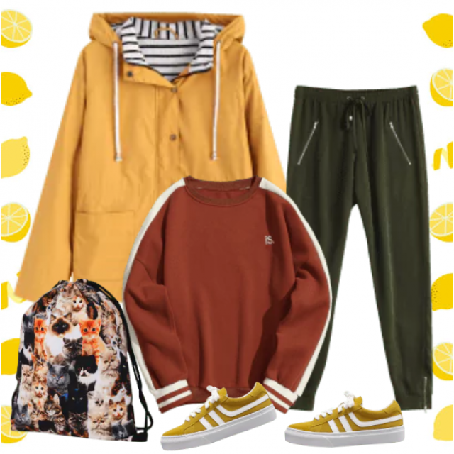 Ideal outfit for free time, walking, going to the gym,........ Casual and cozy!
