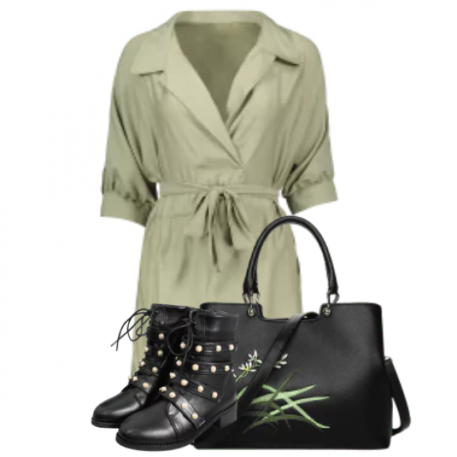 During those autumn days, you have to try this outfit combination :)