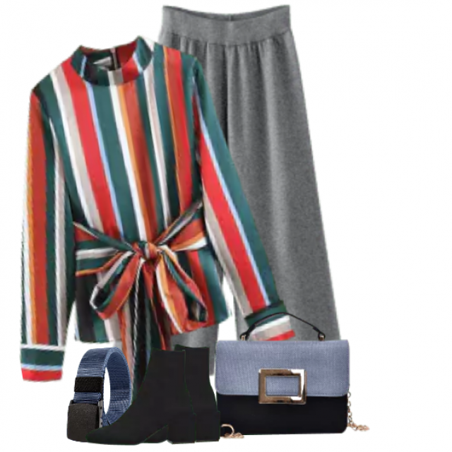 Fabulous and stylish blouse - fits perfect to the grey pants