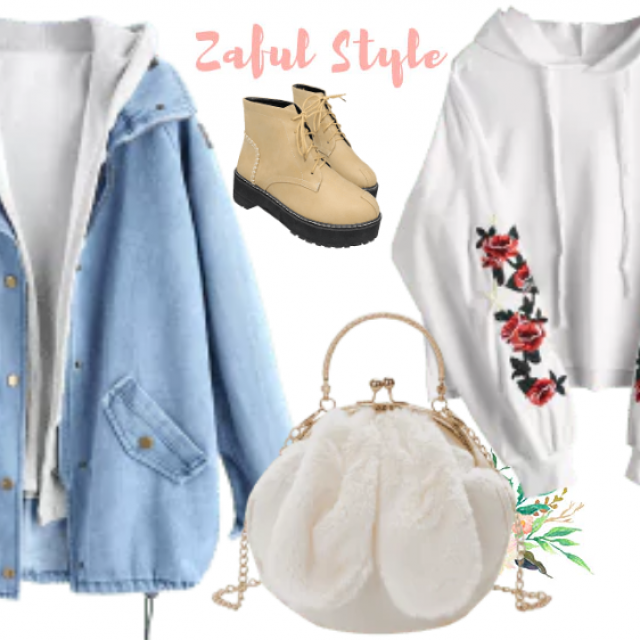 Try this zaful outfit :) Denim jacket you can try and mix with everything you wear :)