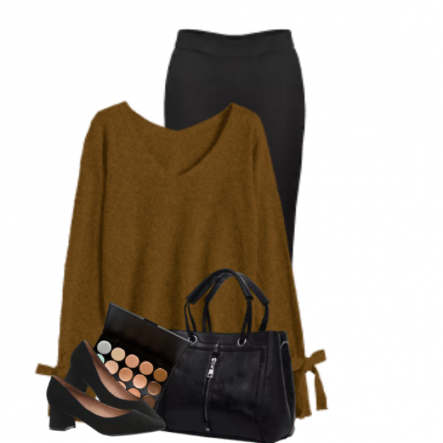 Beautiful sweater with great details - perfect with the black pants