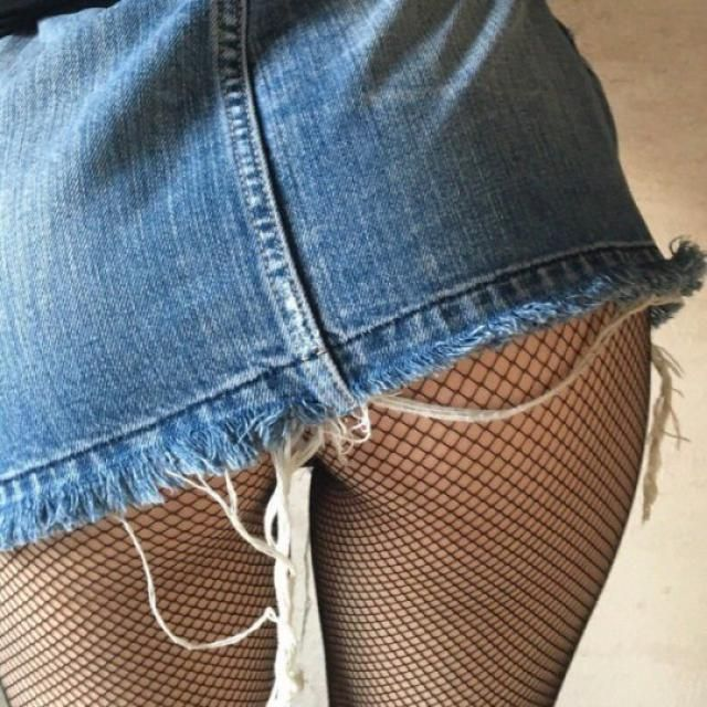 Fishnets with skirts. I knew jeans but skirts?