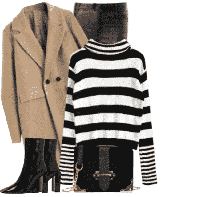 Gorgeous look with this striped sweater - looks great with the pants and boots