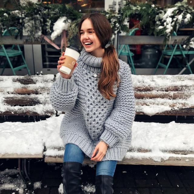 What could be better than big cozy sweater?
