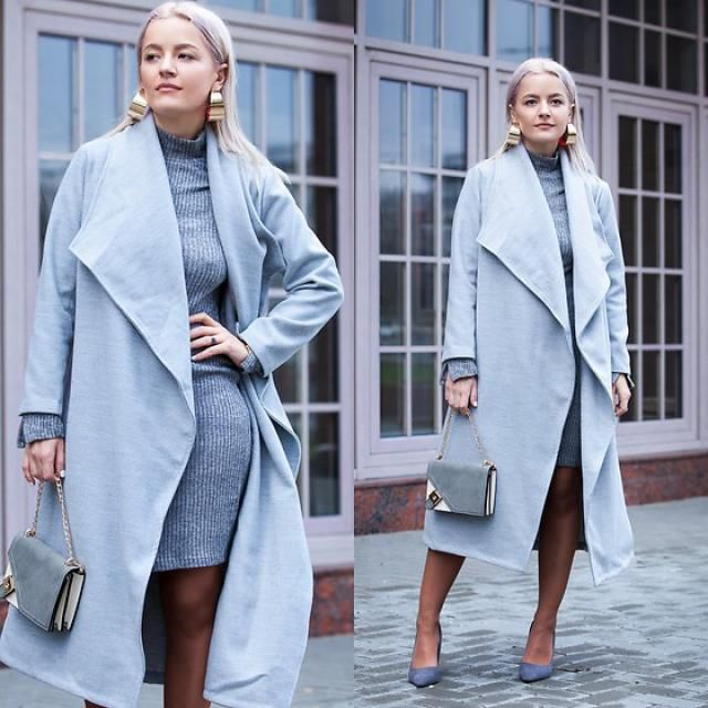 Wool Blend Shawl Collar Waterfall Coat!!!