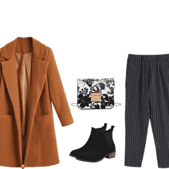 shoes    Striped pants for daily style.