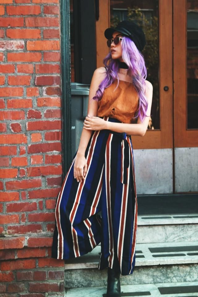 This cool retro stripped pants