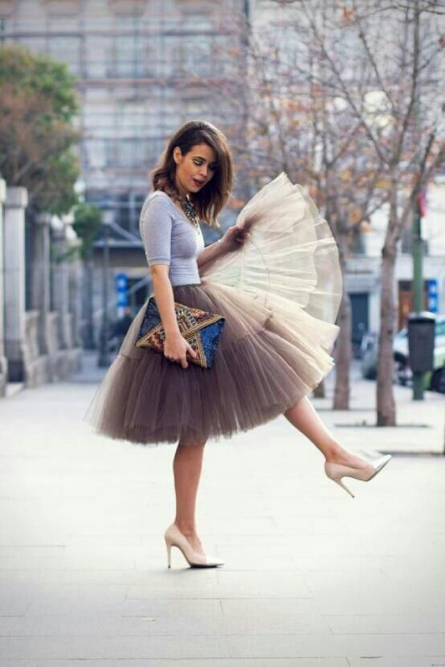 I have loved tulle skirt since I was a little girl. I guess some thing never change.