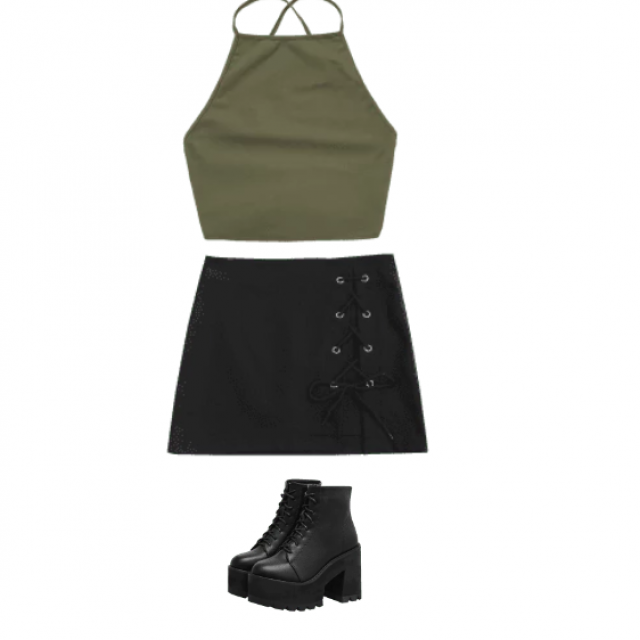 This outfit is simple but very bold, the top and skirt really work well together and will look STUNNING on you! Whos go…