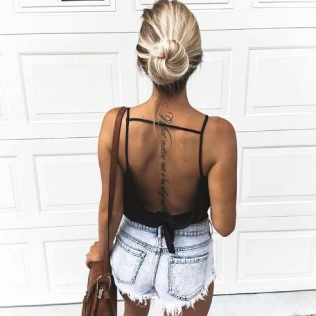 Backless and Shorts. How Gorg.