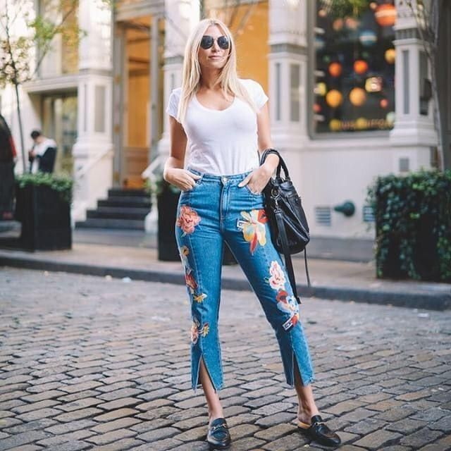 Printed jeans 2018.