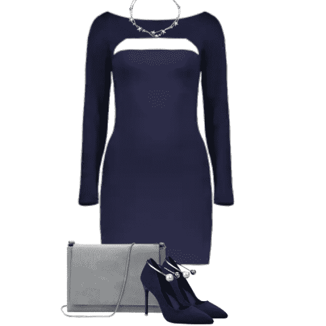Wonderful blus dress - perfect to party