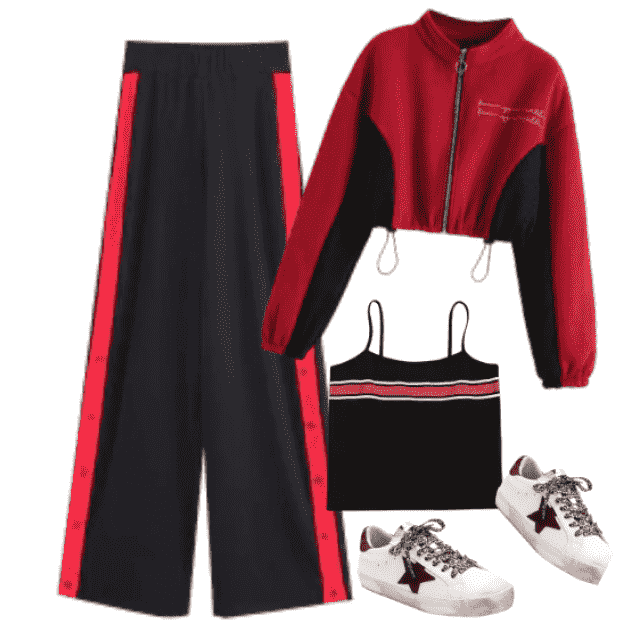 Sporty look ideal for casual occasion......at home or outside.