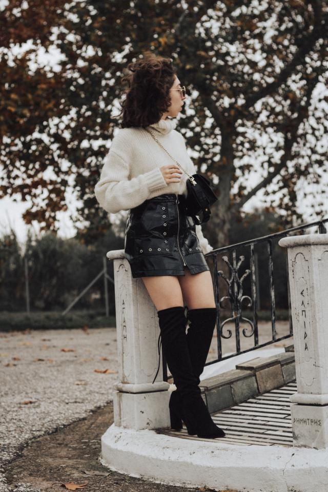 OTK boots madness! More on http://somethingvogue.com/otk-boots-for-cold-winter-days/