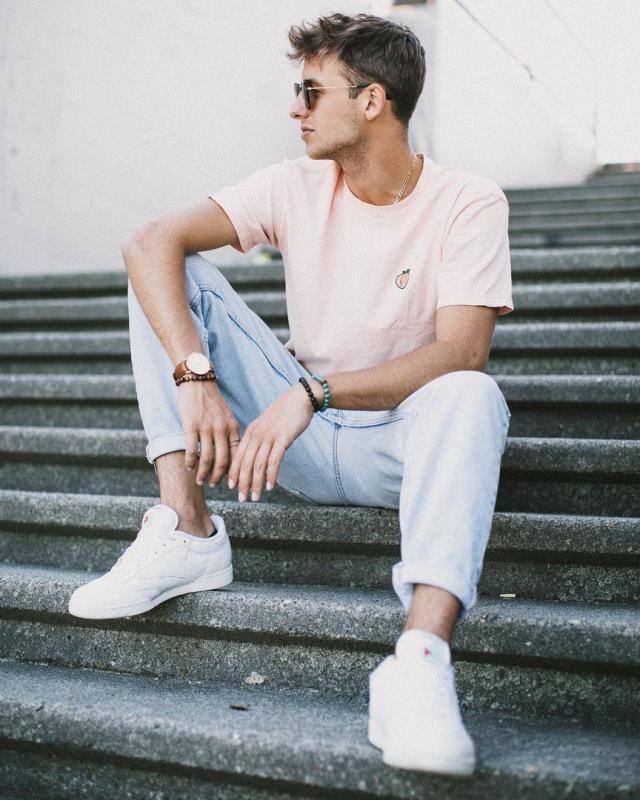 af3358909a6c Street Look #zafulmen #tee #tshirt #jeans #casual #boys #hot #denimlove