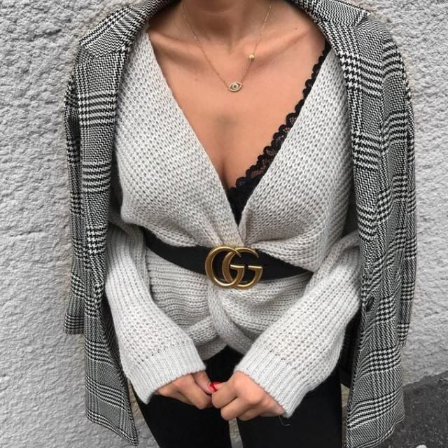 You can get this plaid blazer and this twisted sweater from Zaful with good prices
