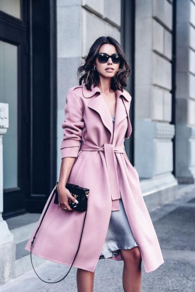 Pink coat!!